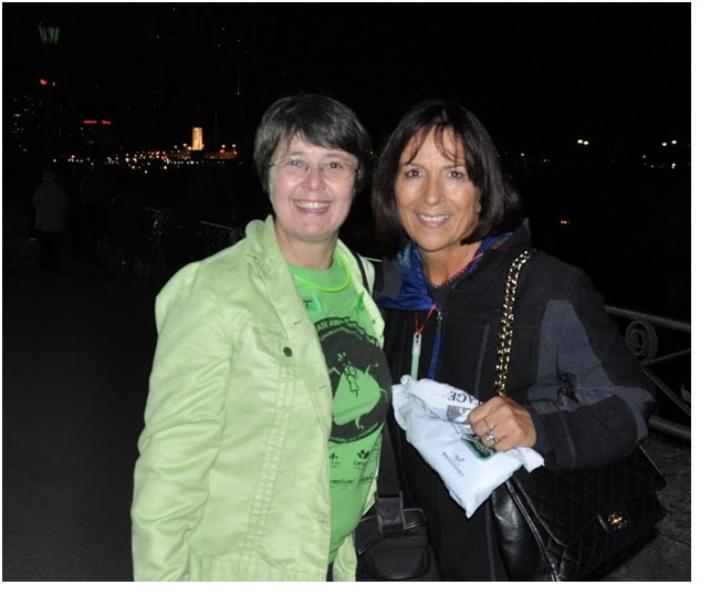 Rossana Magnotta and Marlene Spies at Niagara Falls