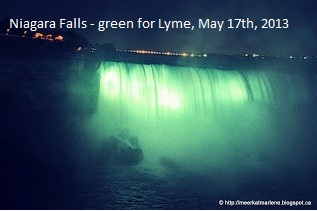 Niagara Falls green fo Lyme disease awareness